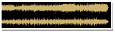 Unmastered Audio Wav Form